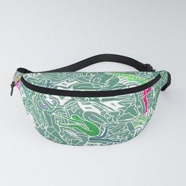 Body Map - Sea Green Fanny Pack