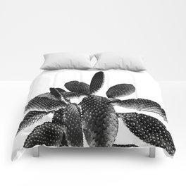 Black White Cactus #1 #plant #decor #art #society6 Comforters
