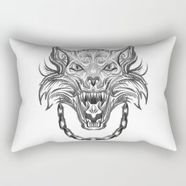 Norse Wolf Monster Fenrir Rectangular Pillow