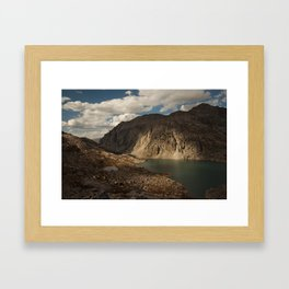 Alpine Lake in the Wind River Range of Wyoming Framed Art Print