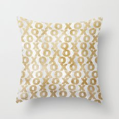 xoxo gold Throw Pillow