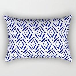 Shibori Diamond pattern Rectangular Pillow