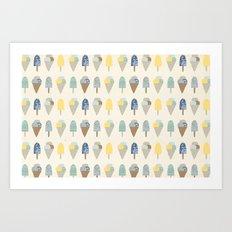 ice cream pattern  Art Print