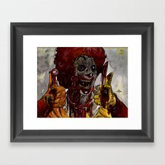 Mac Donalds Zombie Framed Art Print