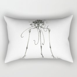 Martian Tripod Queen, Black and White Rectangular Pillow