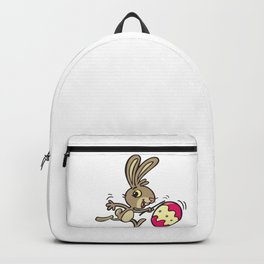 Easter bunny and rolling Easter egg Backpack