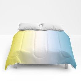 Blue White Yellow Gradient Comforters