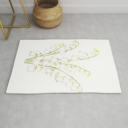 white lily of valley 2021 Rug
