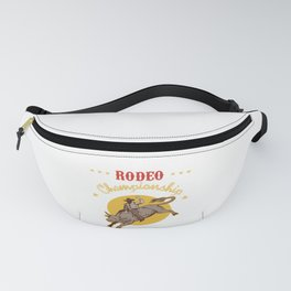 Bull Riding Rodeo Championship Cowboy Gift Wild West Fanny Pack