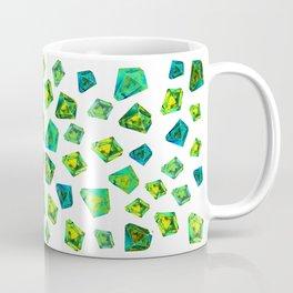 Green beautiful hand drawn gems. Coffee Mug