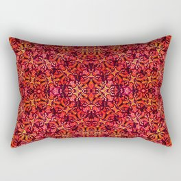 Floral Fireworks Pattern Rectangular Pillow