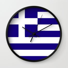 Greece flag emblem Wall Clock