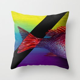 Red Snapper Wash Throw Pillow