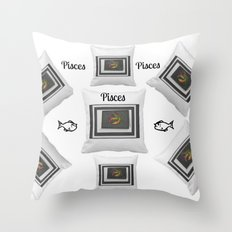 Loving Those Pisces by Sherri's of Palm Springs Throw Pillow