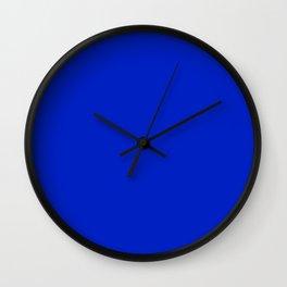 Solid Deep Cobalt Blue Color Wall Clock