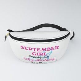 September Girl Birthday Fanny Pack