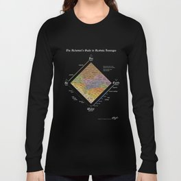 The Alchemist's Guide to Alcoholic Beverages (for dark shirts) Long Sleeve T-shirt