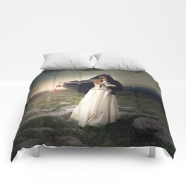 For those with eyes - Fine art magical portrait Comforters