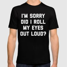 Roll My Eyes Funny Quote Black 2X-LARGE Mens Fitted Tee