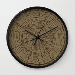 Tree rings brown Wall Clock