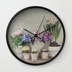 longing for springtime Wall Clock
