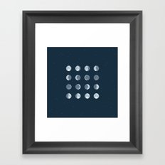 8bit Moon Phases Framed Art Print