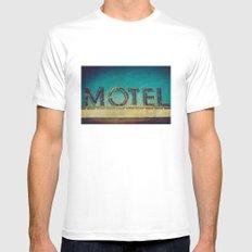 Grunge Motel Sign Mens Fitted Tee White MEDIUM