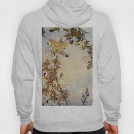 """Ariel and the Bee"" Fairy Tale Art by Edmund Dulac Hoody"