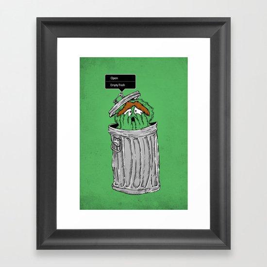 NO! NO! NO! Framed Art Print