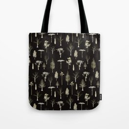 trees pattern Black edition Tote Bag