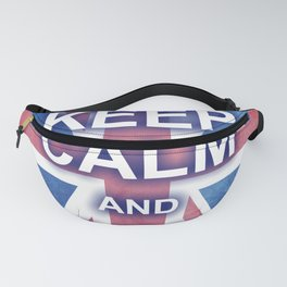 Keep Calm and Carry On British Flag Fanny Pack