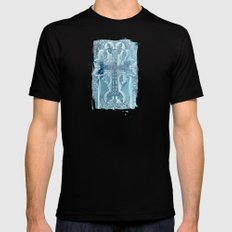 Celtic Blue - JUSTART © Black MEDIUM Mens Fitted Tee
