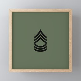 Master Sergeant (Green) Framed Mini Art Print