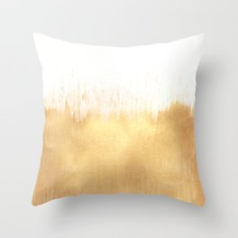 Brushed Gold Throw Pillow
