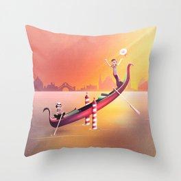 Venice Seesaw Throw Pillow