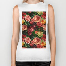 Vintage & Shabby chic - floral roses flowers rose Biker Tank