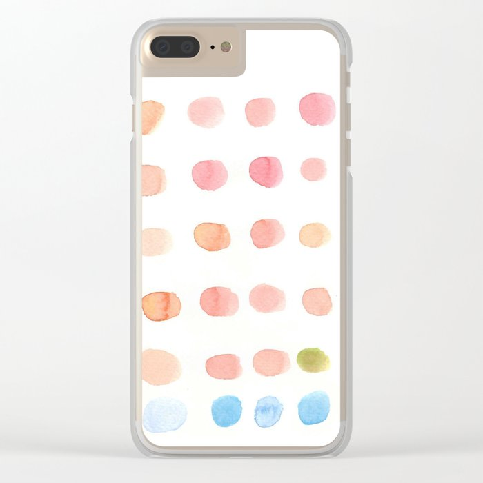 water color dot Clear iPhone Case