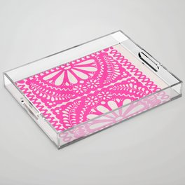Fiesta de Flores Pink Acrylic Tray