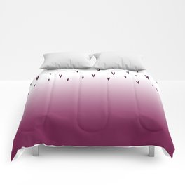 love hearts edition, pink Comforters