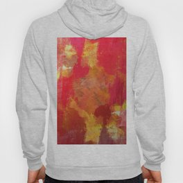 Fight Fire With Fire - Textured Metallic Abstract in red, white, black, orange and yellow Hoody