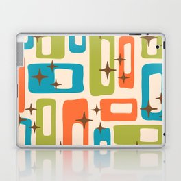 Retro Mid Century Modern Abstract Pattern 921 Orange Chartreuse Turquoise Laptop & iPad Skin