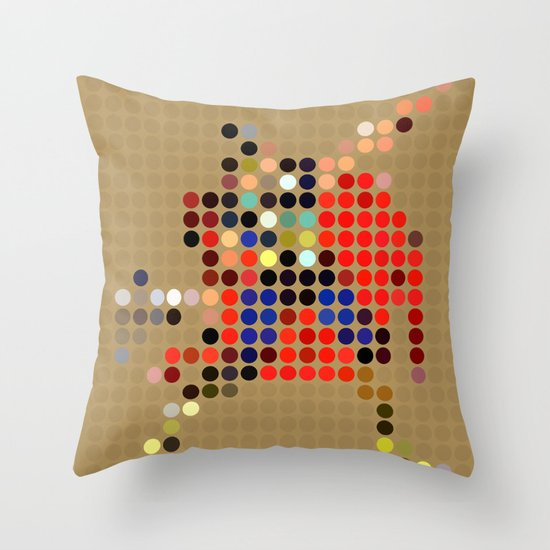 Mr Thunder Throw Pillow