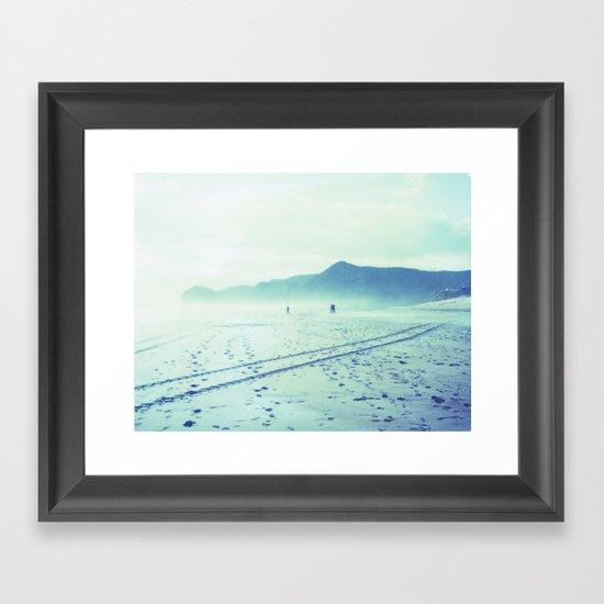 Piha Beach Framed Art Print
