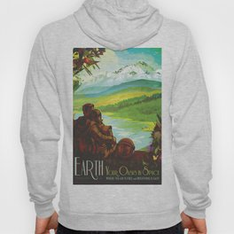 NASA Retro Space Travel Poster #2 - Earth Hoody
