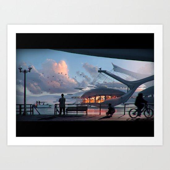 Haapu South Pacific Resort Art Print