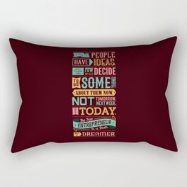 Lab No. 4 A Lot Of People Have Ideas Nolan Bushnell Motivational Quotes Rectangular Pillow
