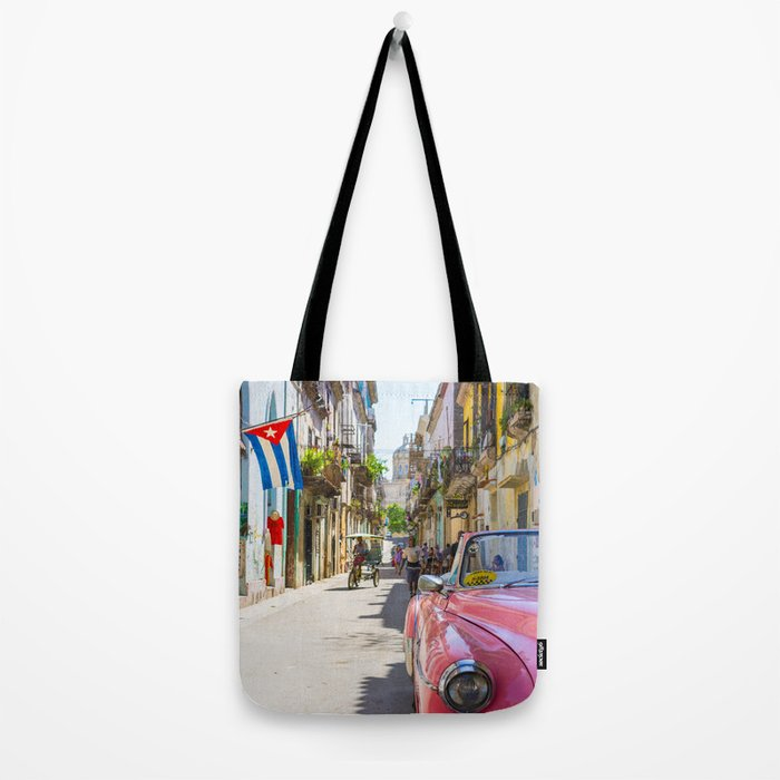 Colorful building streets in Cuba Tote Bag