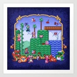 Mario Super Bros, Too Art Print
