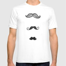 moustache MEDIUM White Mens Fitted Tee