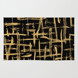 Hashtags in Gold Rug